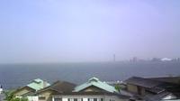 黄砂でかすむ琵琶湖