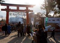 西日が射し込む穏やかな正月 (上賀茂神社)