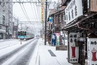雪の路面電車(大津・浜大津)