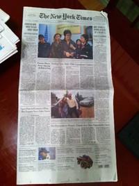 新聞1面に広告なし アメリカ
