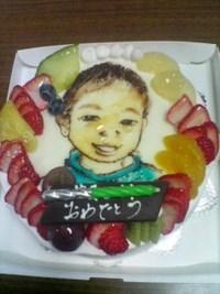 菓子職人の似顔絵ケーキ