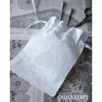 白糸の手刺繍とドロンワーク