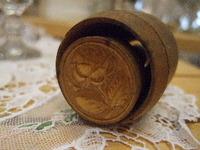 アンティーク木製バタースタンプ