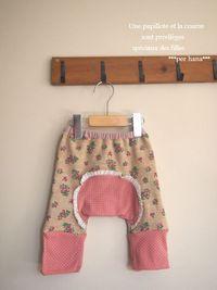 ひさびさに花柄baby用モンキーパンツ