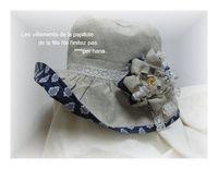 ソレイヤードブルーな帽子