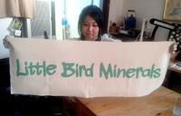 Little Bird Mineralsさん出店用垂幕作成。