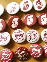 MILK HALL Cupid様、5周年記念缶バッジを作成。
