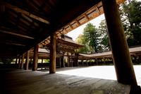 回廊のある風景 (滋賀・油日神社)