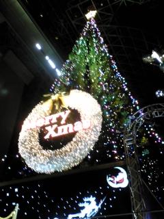 京都駅大階段、クリスマスツリー