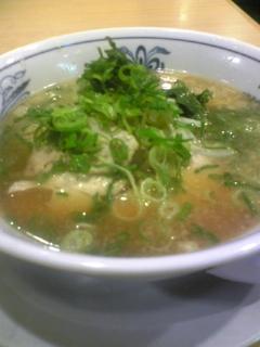 串の菜花亭のラーメン@京都駅北側