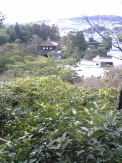 銀閣寺の景色、京都市内の景色。