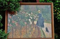 庭の薔薇の陶板画