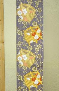 糸巻き文の袋帯