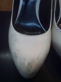 台風のあとは、靴のクリーニング!!