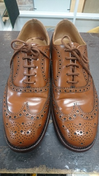 【長岡京】ビンテージスチールつま先補強できます!にハーフラバー!長岡京、山崎、日向町の靴修理なら当店へ