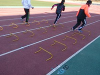 長距離選手のミニハードル練習