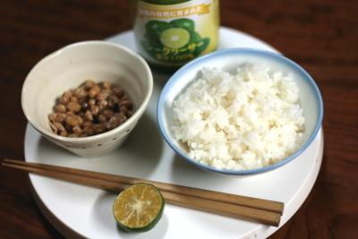 納豆とシークワーサー