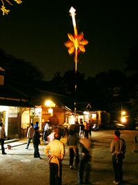 八大神社 剣鉾の鉾差し練習会