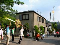大豊神社 5月3日 御旅所前・剣鉾の鉾差し練習