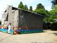 粟田神社・拝殿竣工記念式典で剣鉾総揃え?!