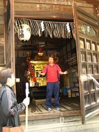 大豊神社2009・御旅所飾り付け&牡丹鉾調整