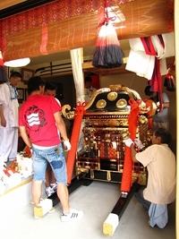 三嶋神社・神幸祭2012 準備着々 新調吹散拝見