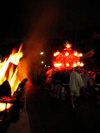 八大神社2009 宵宮祭 剣鉾最終調整