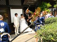 結婚式で剣鉾 鶴鉾・扇鉾が乱舞!