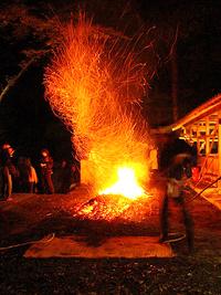 石座神社・岩倉の火祭2008~朝神事~