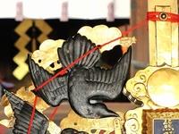 熊野神社 烏鉾・神輿飾り付け2011