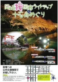 岡崎桜回廊ライトアップと十石舟めぐり