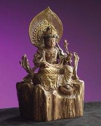 京仏具四人会展 聖観世音菩薩座像です