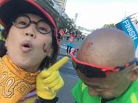 神戸マラソン2017♪ゴールでの奇跡のお揃いペイント♪