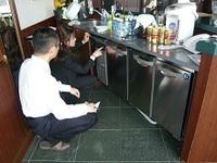 前出しの台下冷凍冷蔵庫