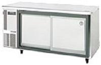 狭い厨房でのスライド扉台下冷蔵庫