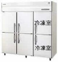 社員食堂様への業務用6ドア冷凍冷蔵庫