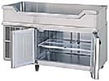鮮魚店様への舟形台下冷蔵庫