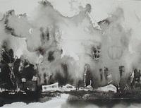 墨の絵の風景「古へ」