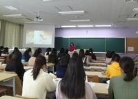 入学前教育講座で4年次生が卒業研究について発表しました