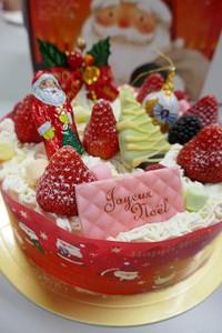 すこし早いクリスマスケーキ