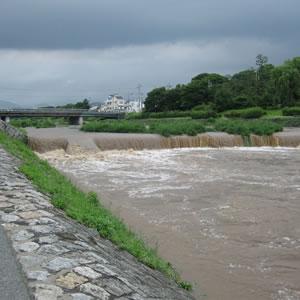 雨後の鴨川。。こんな写真ってけっこう少ないですね。【太田ゼミ、同志社大学政策学部】