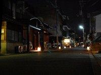 鉾参通工芸展ライトアップが始まりました。