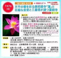 7/7(日) らくたび主催 ≪ 奈良たび ≫ 開催のお知らせ♪