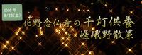 化野念仏寺の千灯供養と嵯峨野散策