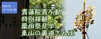 青蓮院青不動特別拝観と粟田祭見学、東山散歩