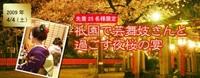 祇園で芸舞妓さんと過ごす夜桜の宴