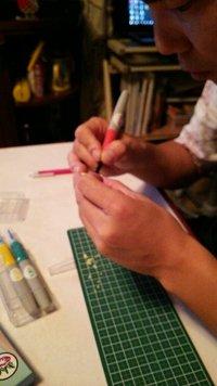 絵手紙に使うハンコを作って貰います〜〓