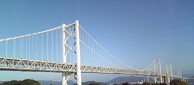 快晴の瀬戸大橋