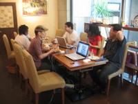 真夏のブログカフェ