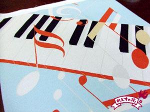 鍵盤と音符